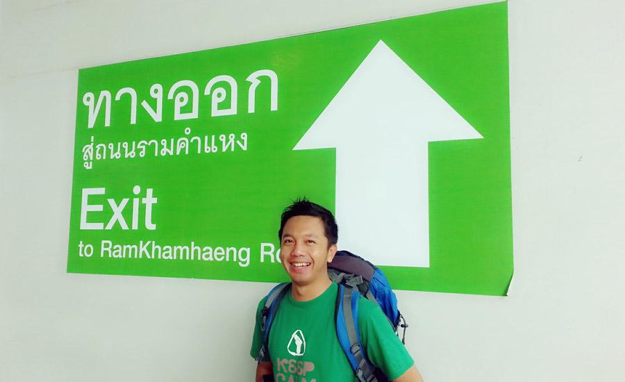 Zulfikar Aleksandri di Ramkamhaeng, Bangkok, Thailand