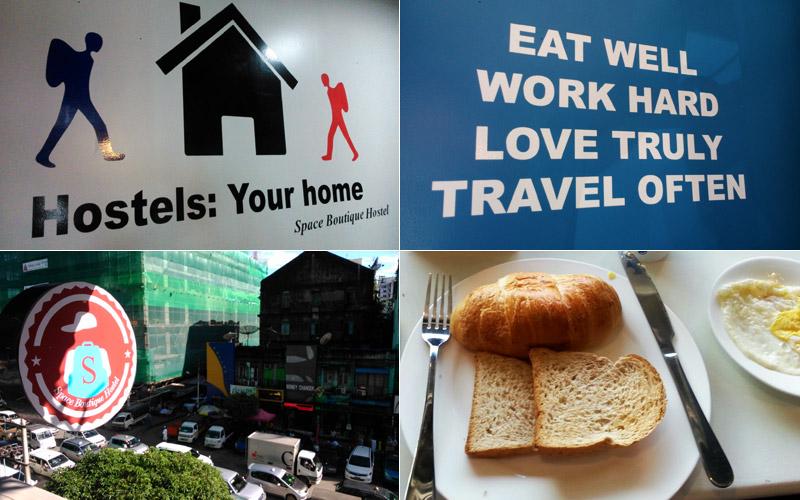 Travel quote dan view dari tempat makan di Space Boutique Hostel