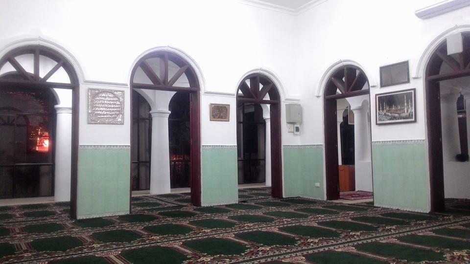 Interior bangunan Masjid Al Noor, satu-satunya masjid di Hanoi