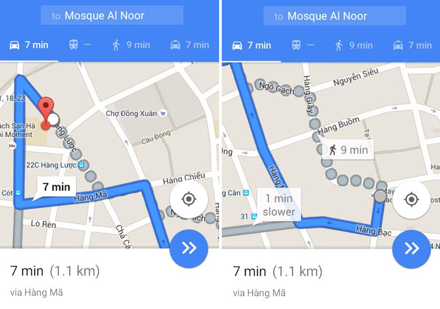 Google Maps, guide saya menuju Masjid Al-Noor di Hanoi